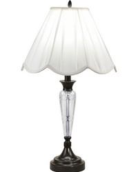 Idoya 24 Lead Hand Cut Crystal Table Lamp Ebony Black by