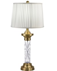 Ailin 24 Lead Hand Cut Crystal Table Lamp Antique Brass by