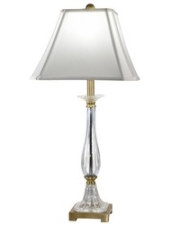 Tapani 24 Lead Hand Cut Crystal Table Lamp Antique Brass by