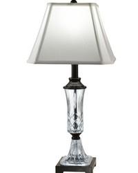 Alivia 24 Lead Hand Cut Crystal Table Lamp Ebony Black by