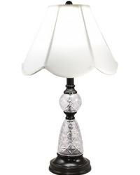 Ela 24 Lead Hand Cut Crystal Table Lamp Ebony Black by