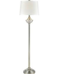 Leyla 24 Lead Hand Cut Crystal Floor Lamp Polished Nickel by