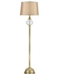 Walker 24 Lead Hand Cut Crystal Floor Lamp Golden Antique Brass by