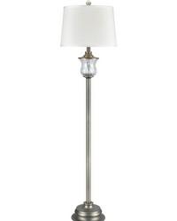 Esteban 24 Lead Hand Cut Crystal Floor Lamp Antique Nickel by