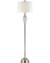 Solstice 24 Lead Hand Cut Crystal Floor Lamp Polished Chrome by