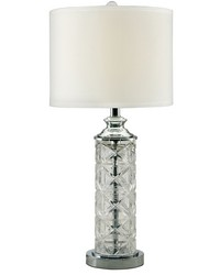 Kaia 24 Lead Hand Cut Crystal Table Lamp Polished Chrome by