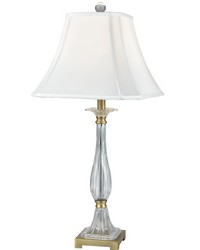 Spring Hill 24 Lead Hand Cut Crystal Table Lamp Golden Antique Brass by