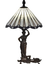 Akira Lady Tiffany Table Lamp Antique Bronze by