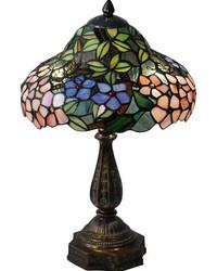 Floral Bounty Tiffany Table Lamp Fieldstone by