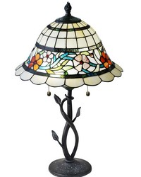 Anani Floral Tiffany Table Lamp Antique Bronze by