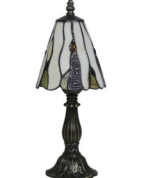 Pasia Tiffany Accent Lamp Antique Brass by