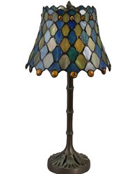 Maile Tiffany Accent Lamp Antique Bronze Verde by