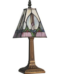 Tavas Tiffany Accent Lamp Antique Brass by