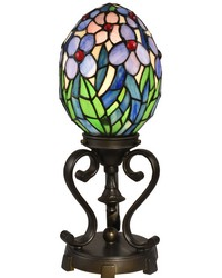 Rangel Egg Tiffany Accent Lamp Antique Bronze by