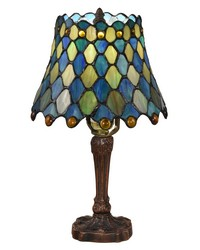 Maile Brass Tiffany Table Lamp Antique Bronze by
