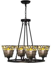 Pasqual 4-Light Mesh Tiffany Hanging Fixture Antique Bronze by