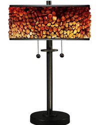 Pebblestone II Table Lamp Tiffany Bronze by
