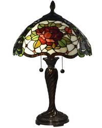 Tiffany Rose Tiffany Table Lamp Fieldstone by