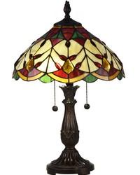 Arizona Marshall Tiffany Table Lamp Antique Bronze by