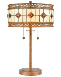 Minerals Tiffany Table Lamp Rustic Bronze by