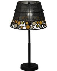 Pasqual Mesh Tiffany Table Lamp Antique Bronze by