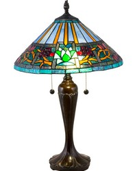 Amada Tiffany Table Lamp Fieldstone by