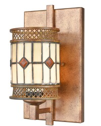 Minerals Tiffany Wall Sconce Rustic Bronze by