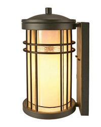 Dijon Outdoor Tiffany Wall Sconce Golden Black by
