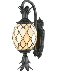 Essex Outdoor Tiffany Wall Sconce Golden Black by