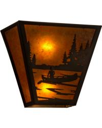 Canoe At Lake Wall Sconce 161611 by