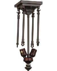Mahogany Bronze 2 LT Semi-Flushmount Hardware 163230 by