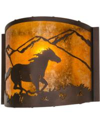 Running Horse Wall Sconce 163884 by