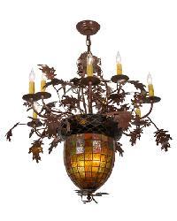 Greenbriar Oak 9 Arm Chandelier 165173 by