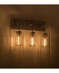 Mason Jar 3 LT Vanity Light by