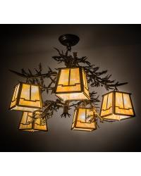 Pine Branch Valley View 5 LT Chandelier 166720 by