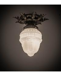 Fancy Floral W Colonnade Globe Flushmount by