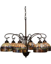 Tiffany Candice 6 LT Chandelier 18693 by