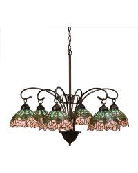 Cabbage Rose 6 LT Chandelier 18713 by
