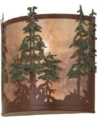 Tall Pines Wall Sconce by