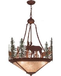 Wandering Moose Inverted Pendant by