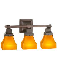 Bungalow Frosted Amber 3 LT Vanity Light by