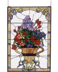 Floral Arrangement Stained Glass Window 51721 by