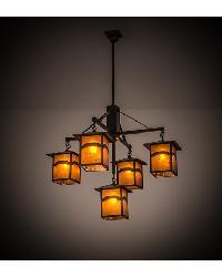Seneca Mountain View 5 LT Hanging Lantern Chandelier 61406 by