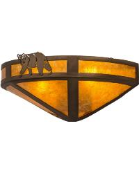 Northwoods Lone Bear Wall Sconce 67990 by