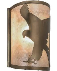 Flying Hawk Left Wall Sconce 68187 by