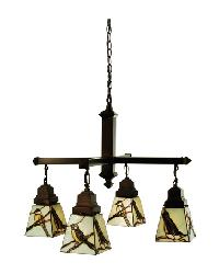 Early Morning Visitors 4 LT Chandelier 69276 by