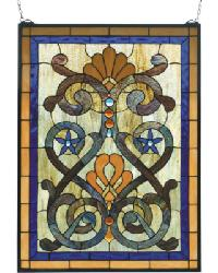 Mandolin Stained Glass Window by