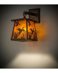 Ducks in Flight Hanging Wall Sconce 82652 by
