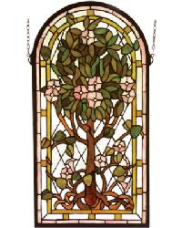 Arched Tree of Life Stained Glass Window by