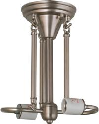 Brushed Nickel 2 LT Semi-Flushmount Hardware by